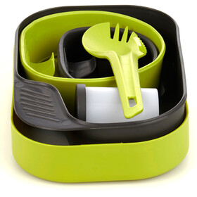 Wildo Camp-a-box Dinner Set Complete, lime